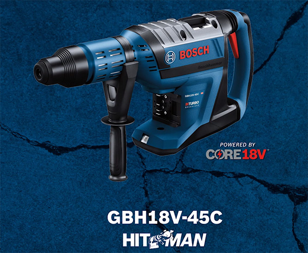 Bosch Profactor HitMan Rotary Hammer with Biturbo Tech and Core18V Battery