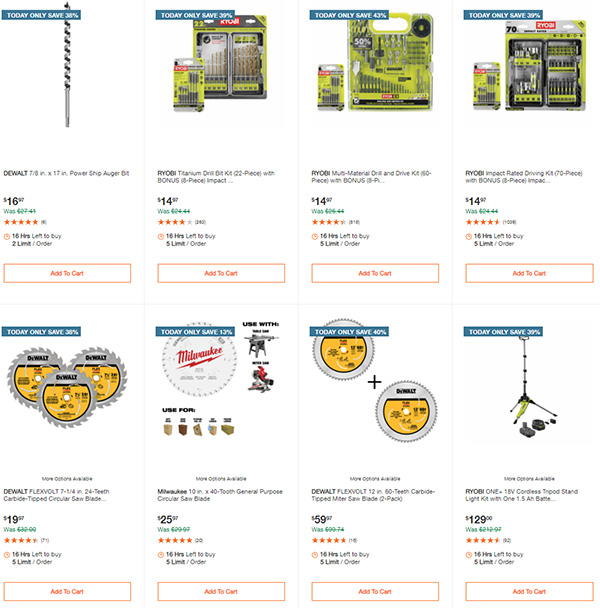 Home Depot Milwaukee Ryobi Tool Deals of the Day 12-7-2020 Page 11