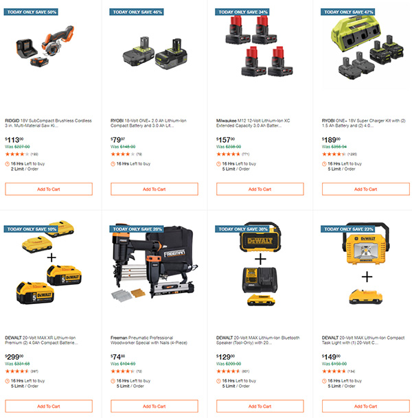 Home Depot Milwaukee Ryobi Tool Deals of the Day 12-7-2020 Page 6