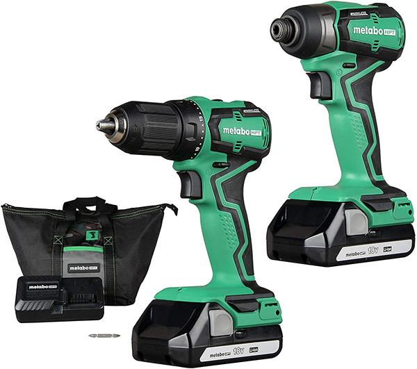Metabo HPT Sub-Compact Cordless Drill and Impact Driver Combo Kit KC18DDX