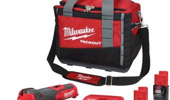 Milwaukee 2526-2411 M12 FUEL Oscillating Multi-Tool Kit and Packout Tool Bag Bundle