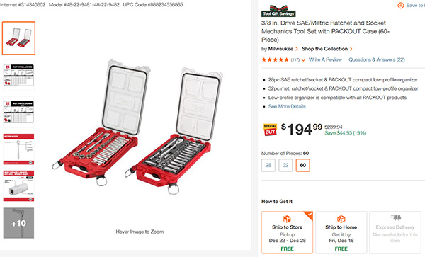 Milwaukee Packout Socket Sets Combo Screenshot
