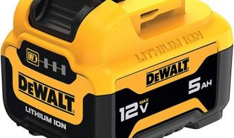 Dewalt DCB126 12V Max 5Ah Cordless Power Tool Battery Angled