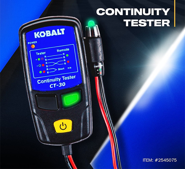 Kobalt Continuity Tester at Lowes
