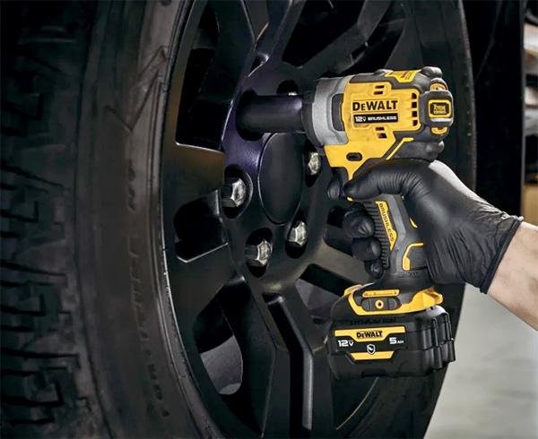 Dewalt Xtreme 12V Max Brushless Impact Wrench Used on Wheel Lug Nuts