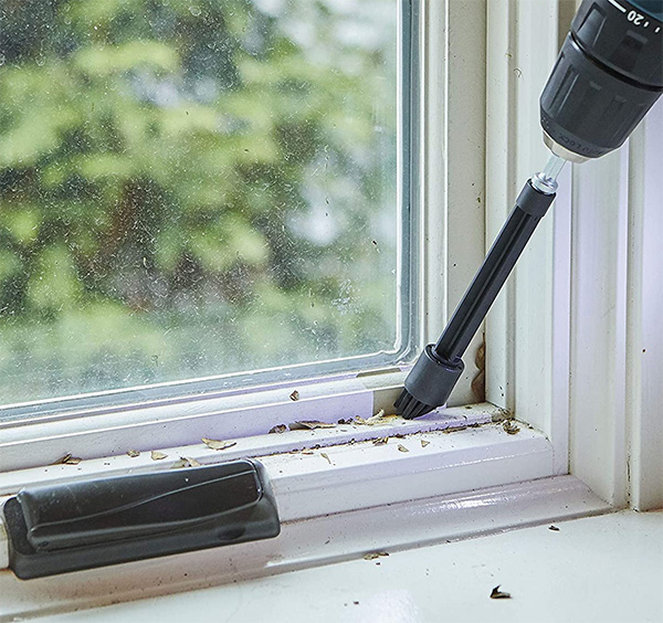Dremel PC375-U Drill Cleaning Brush Kit Fine Tip Used on Window