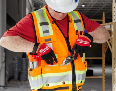 Milwaukee Tool Surveyor Safety Vest High Visibility Orange
