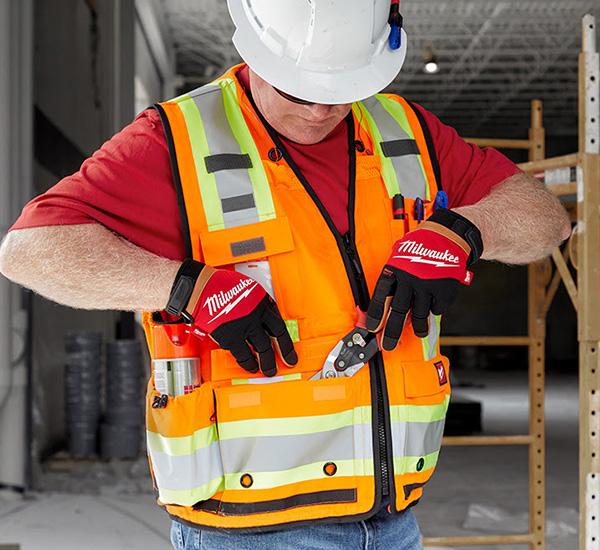 Milwaukee Tool Surveyor Safety Vest High Visibility Orange
