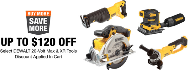 Dewalt Buy More Save More Cordless Power Tool Deals Home Depot 032021