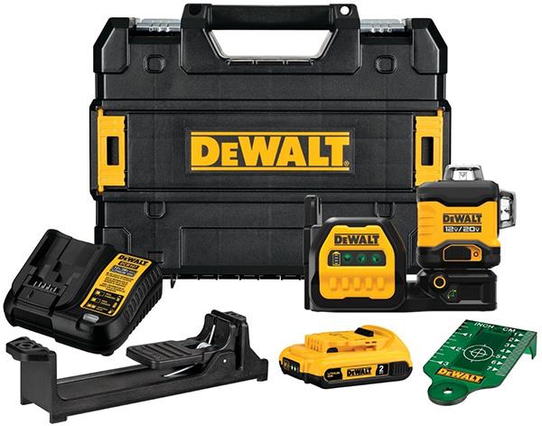 Dewalt DCLE34030G 20V Max 3x360 Green Laser Kit