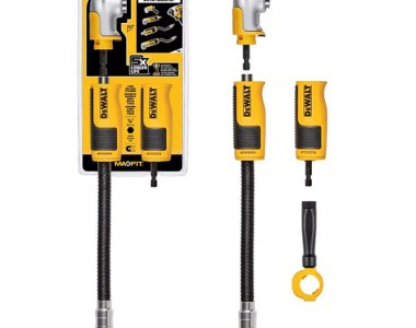 Dewalt Modular Right Angle Attachment Set Hero and Packaging