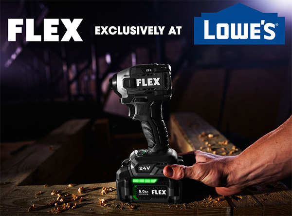 Flex Cordless Power Tools at Lowes 2021 Announcement