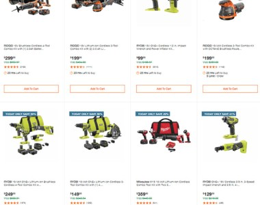 Home Depot Tool Deals of the Day 3-22-21 Page 1
