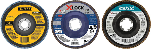 Angle Grinder Type 27 Flap Disc Comparison to X-Lock