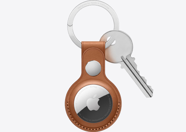 Apple AirTag Item Tracker on Keychain