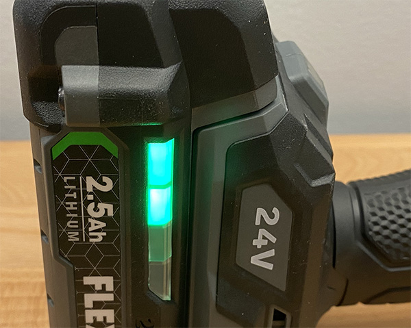 Flex 24V Max Cordless Drill Battery LED Fuel Gauge