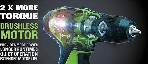 Greenworks 24V Max Cordless Drill Marketing Claims
