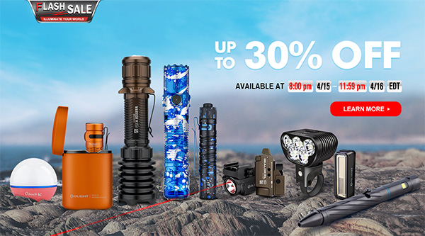 Olight 4-2021 LED Flashlight Flash Sale