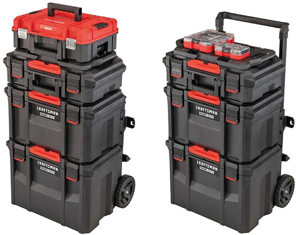 Craftsman TradeStack Tool Box Tower with Versastack Products Attached