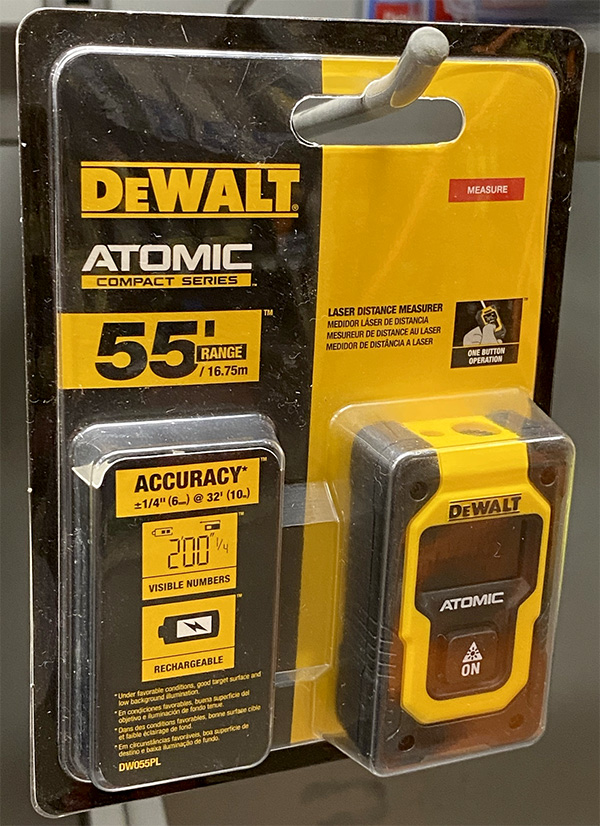 Dewalt Atomic Laser Distance Measuring Tool Packaging