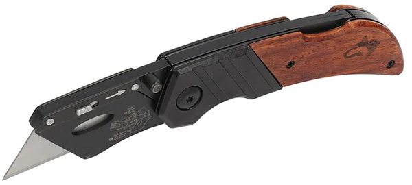 Husky Wood-Handled Folding Utility Knife