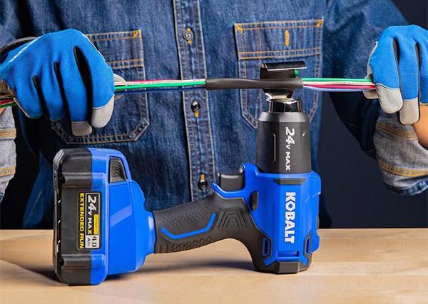 Kobalt 24V Max Cordless Heat Gun On Back Stand