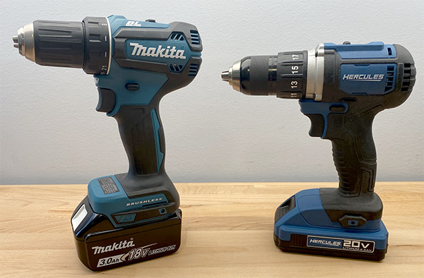 Makita vs Harbor Freight Hercules Cordless Drill Comparison 2021