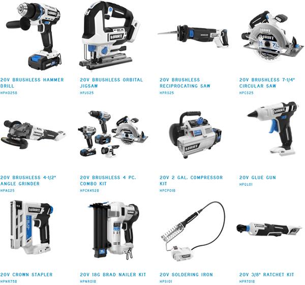 New Hart Cordless Power Tools at Walmart 2021