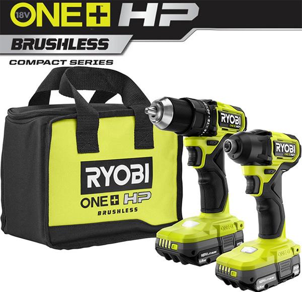 Ryobi 18V One+ Compact Series Drill and Impact Driver Combo Kit