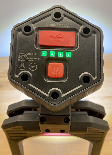 Husky LED Clamp Worklight Controls and Charging