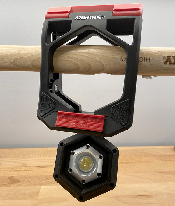 Husky LED Clamp Worklight Hanging