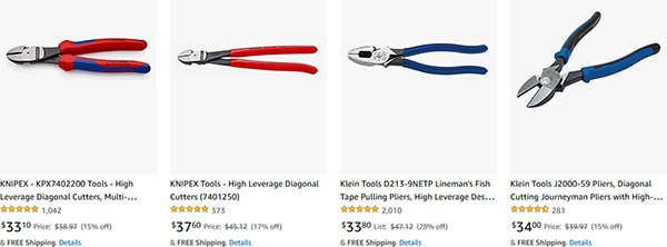 Knipex and Klein Side Cutting Pliers