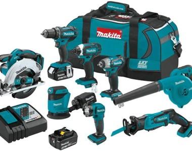 Makita 18V 8pc Cordless Power Tool Combo Kit XT801X1