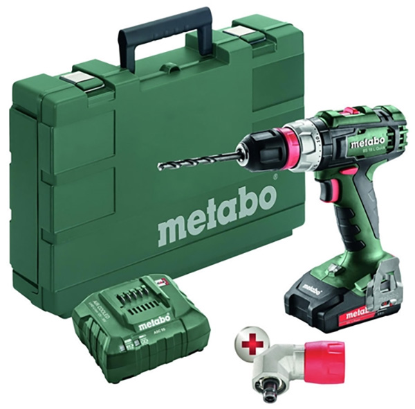 Metabo 18V Cordless Drill Driver Kit with Quick Chuck