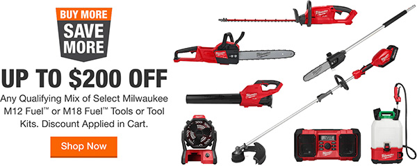 Milwaukee Cordless Outdoor Power Tools Buy More Save More Deal 2021