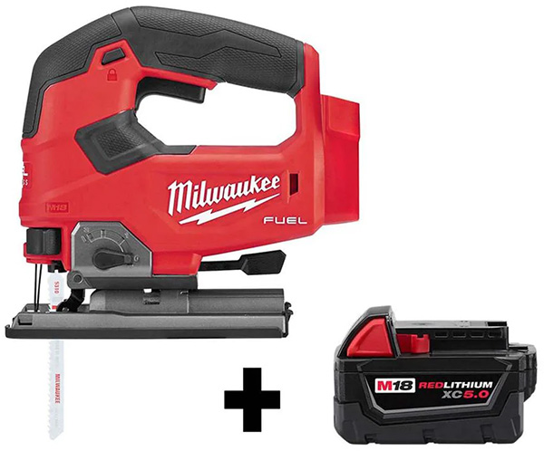 Milwaukee M18 Fuel Cordless Jig Saw and Battery Bundle