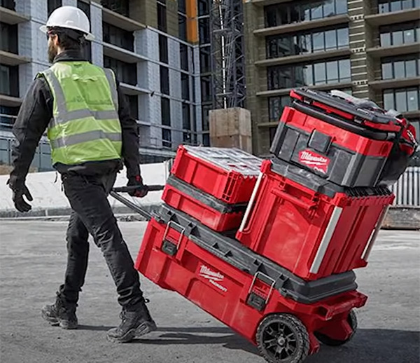 Milwaukee Packout Large Dual Stack Rolling Tool Box 48-22-8428