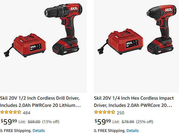 Skil 20V Drill and Impact Driver Kit Deals Fathers Day 2021