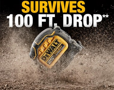 Dewalt ToughSeries Tape Measure 100 Foot Drop Resistance