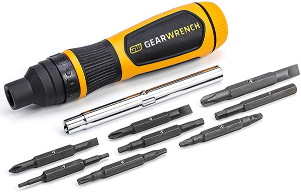 Gearwrench 19-in-1 Ratcheting Screwdriver Bit Assortment