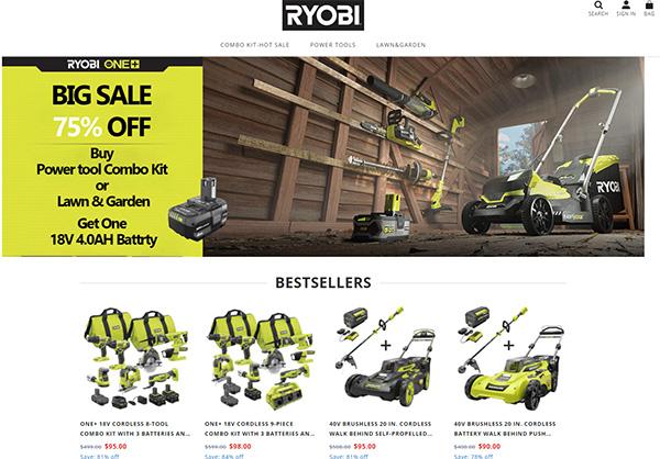 Ryobi Tools Scam Store