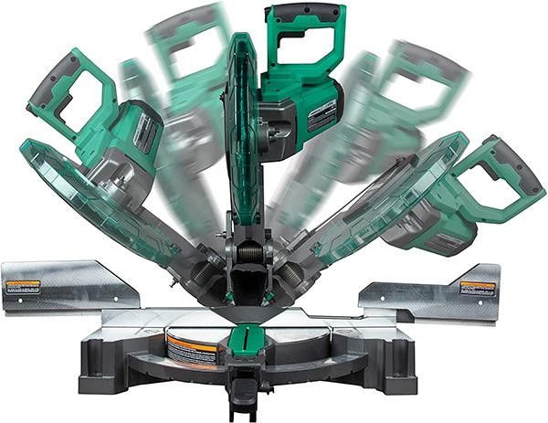 Metabo HPT 12-inch Compound Miter Saw Bevel Range