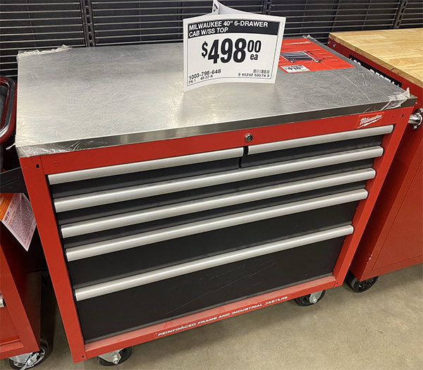 Milwaukee 48-22-8540 Mobile Workbench Home Depot Availability