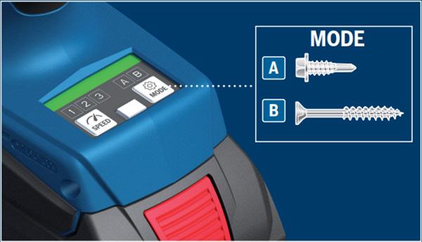 Bosch GDX18V-1860 18V Freak Impact Driver Mode Selection
