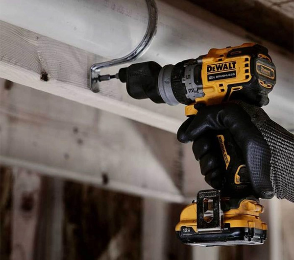 Dewalt DCD703F1 Xtreme 5-in-1 Cordless Drill Driver with Offset Head Driving Screws