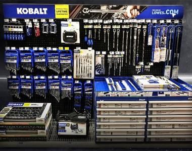 Kobalt Mechanics Tool Display at Lowes Fall 2021