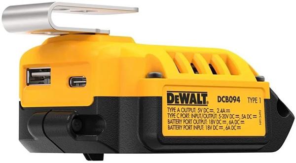 Dewalt DCB094 20V Max USB C Power Charging Adapter Ports