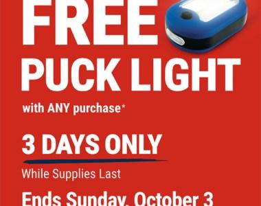 Harbor Freight Free LED Worklight Offer October 2021
