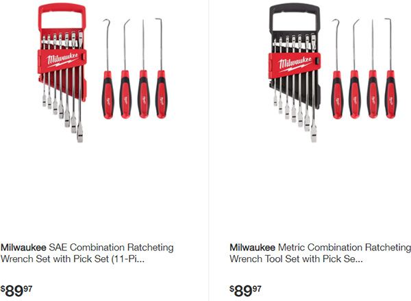 Home Depot Milwaukee Wrench and Pick Bundle Set Deals
