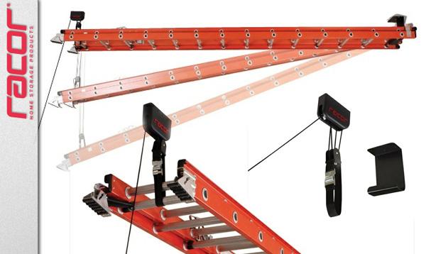 ceiling storage racor ladder lift